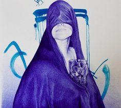 A brilhante arte com caneta de Alfredo Chamal