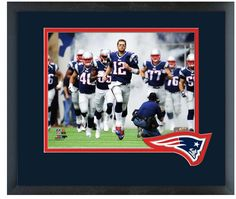 Tom Brady 2014 New England Patriots - 11 x 14 Team Logo Matted/Framed Photo