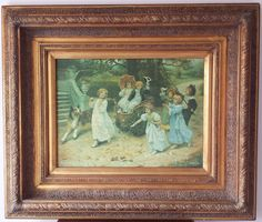 Large Gilt Ornate Frame Canvas Higgins Bowers Print The Happy Pair by A J Elsley