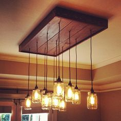 mason jar lights kitchen - Google Search