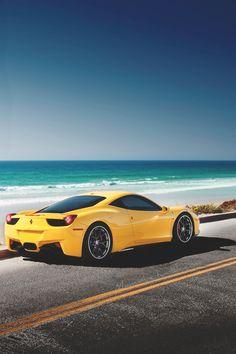 Ferrari Italia at the beach