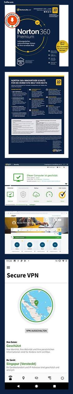 Norton 360 Premium 2021 | 10 Geräte | Antivirus | Unlimited Secure VPN & Passwort-Manager | 1 Jahr | PC/Mac/Android/iOS | Aktivierungscode per Email - 1518 Mac Os, Microsoft Windows 10, Microsoft Office 365, Software, Ios, Android, Wi Fi