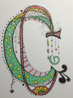 Working on the alphabet ... My Zen Tangle C