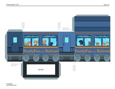 Build Your Own Train: Passenger Car (Printable Paper Crafts for Kids) | Spoonful