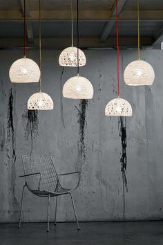 #wool pendant #lamp TRAMA 1 by In-es.artdesign @In-es.artdesign