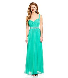 Xtraordinary VNeck Pleated Gown #Dillards