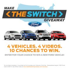 Ford Make the Switch Giveaway