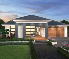 Oasis - Balinese tropicana facade - Another! Modern Landscape Design, Modern House Design, Modern Exterior, Exterior Design, Philippines House Design, Philippine Houses, Bungalow House Design, New Home Designs, Facade House