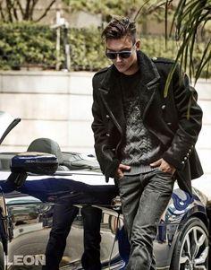 Siwon for Leon Korea Magazine September Issue. Korean popstar. Asian male celeb and models