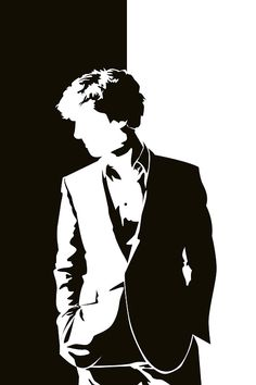 Sherlock in black & white