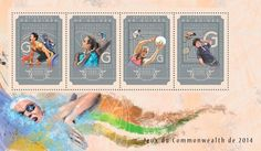 Post stamp Guinea GU 14608 a Commonwealth Games 2014 (Weightlifting, boxing, {…}, badminton, diving) Commonwealth Games, Badminton, Weightlifting, Boxing, Stamps, Seals, Weight Lifting, Weight Training, Postage Stamps