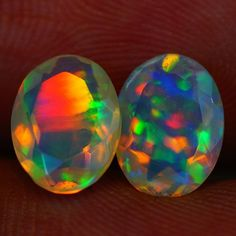 8X6 MM AAA QUALITY ETHIOPIAN CRYSTAL OPAL PAIR -AF324