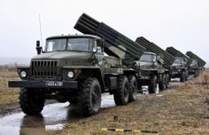 #RussianSpring. Battery of BM-21 MRLS.