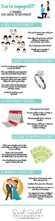 You're Engaged!!! 5 Things to Do Before Anything Else