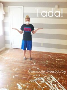 How to remove carpet and refinish wood floors: PART 1 | Classy Clutter