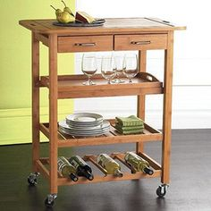 Bamboo Kitchen Island. I know where my next pay cheque will be spent!