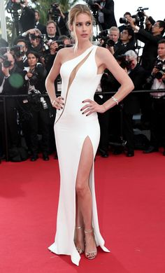 Doutzen Kroes, in Atelier Versace, with Chopard jewels and Jimmy Choo shoes
