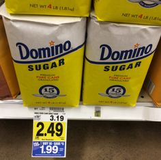 Awesome deals on Domino Sugar at Kroger! - http://printgreatcoupons.com/2013/11/16/awesome-deals-on-domino-sugar-at-kroger/