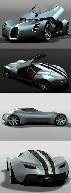 ♂ Concept car Bugatti Aerolithe opens the doors upwards to lift the dashboard ❤ www.healthyliving... ❤