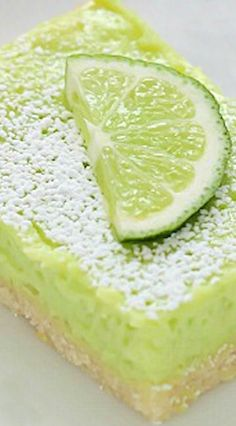 Lime Bars - might add a splash of tequila and make them margarita bars!