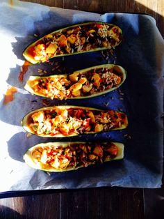 Courgettebootjes. Recept van Rens Kroes, overheerlijk!