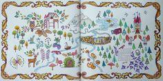 Enchanted Forest - Map. Gekleurd door Marianne in het boek: Het betoverde woud.