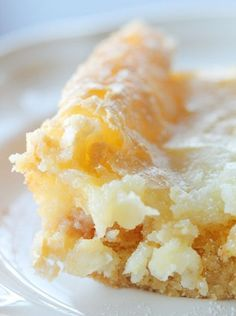 Very difficult to find recipe! It is a paula dean and you really need it as it has two layers. OUTSTANDING DESSERT! Texas gold...only 5 ingredients (yellow cake mix, eggs, cream cheese, butter, & powdered sugar) & is super easy to make.