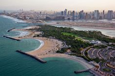 The lush landscaped areas of Al Mamzar Park are know for attracting families from all over the Emirates for picnics. Its other attractions include an amphitheater, where many shows for children are staged, as well as a private beach from where the neighboring city of Sharjah is easily see.