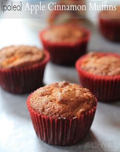 Paleo Apple Cinnamon Muffins that are a healthy low-carb breakfast using coconut flour & coconut oil! Paleo Dessert, Paleo Sweets, Healthy Low Carb Breakfast, Healthy Muffins, Coconut Flour Recipes, Coconut Oil, Apple Cinnamon Muffins, Apple Recipes, Yummy Food