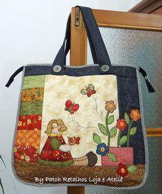 Bolsa menina floreira by Patch Retalhos, via Flickr