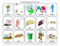 Testy yet trying: Medial K: Free Speech Therapy Articulation Picture Cards
