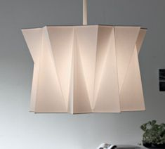 pleated and folded fabric lightshade
