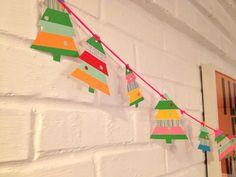 washi tape Christmas tree garland