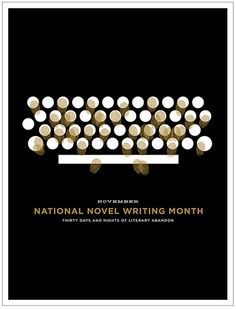 National Novel Writing Month typewriter poster