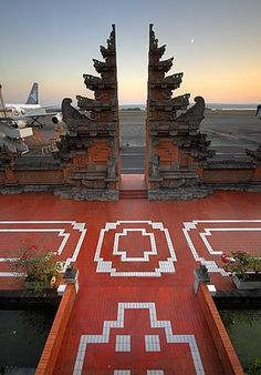 Bali's airport! Denpasar, Trotter, Bali Travel, Southeast Asia, Mosaics, Metals, Passport, Contemporary Design, Places