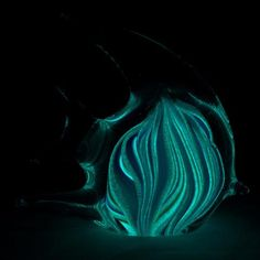 Glow in the dark tropical fish glass art/paperweight. Available at artnglow.com