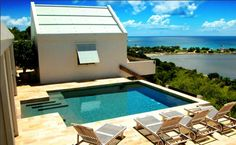 Pool at Ambia Boutique Hotel in South Hill, Anguilla.  Overlooking Sandy Ground.
