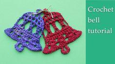 Crochet bell Christmas decoration - tutorial