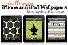 Halloween wallpapers for your iPhone or iPad on thecraftingchicks.com