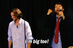 What with constantly being in the presence of Jared and Jensen, people tend to forget that Misha actually is a tall man