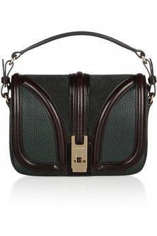 263d40e1ef02 Burberry Textured-Leather and Suede Shoulder Bag  Burberryhandbags