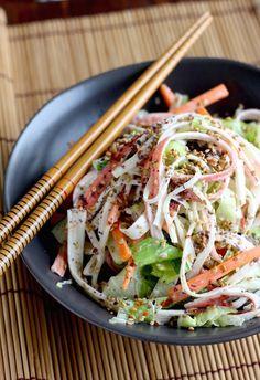 Season with Spice Japanese Crab Salad Recipe, Crab Salad Recipe For Sushi, Easy Asian Recipes, Healthy Recipes, Healthy Breakfast Recipes, Healthy Snacks, Ethnic Recipes, Sushi Salad, Salad Sandwich