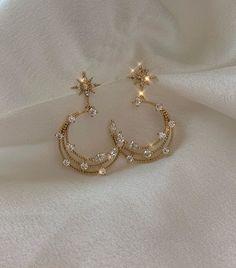 Ear Jewelry, Cute Jewelry, Gold Jewelry, Jewelery, Jewelry Accessories, Fashion Accessories, Fashion Jewelry, Trendy Jewelry, Women Jewelry