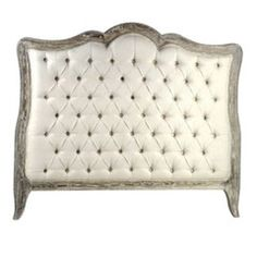 Tufted Headboard with Wood Trim