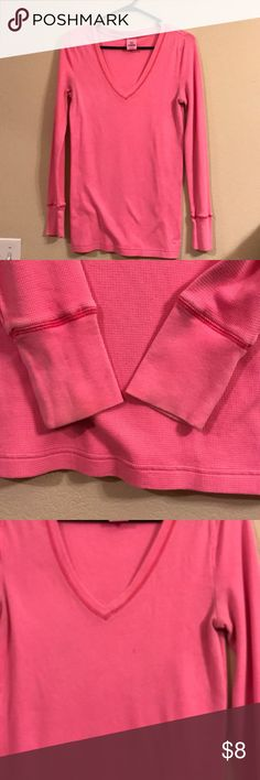 Long sleeve Thermal Does have a small stain on front, pictured. PINK Victoria's Secret Tops Tees - Long Sleeve