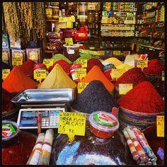 Spices at Istanbul Turkey Bazaar