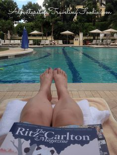 Poolside at The Ritz Carlton Golf Resort, in Naples, Florida