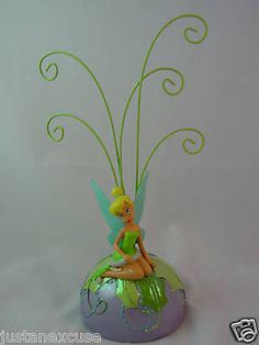 "Tinker Bell Photoclip Christmas Ornament Holder 9"" Resin & Metal Figurine Disney #PictureFrames"