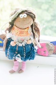 "Primitive doll ""Apricot"" – shop online on Livemaster with shipping"