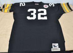 Mitchell & Ness 1975 Throwback Football Jersey NFL Franco Harris #32 Steelers 56 #MitchellNess #PittsburghSteelers